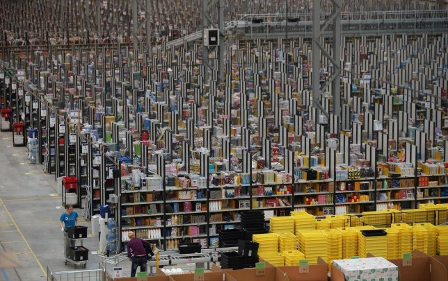 Online Retailers Amazon Prepare For Cyber Monday Oli Scarff/Getty Images