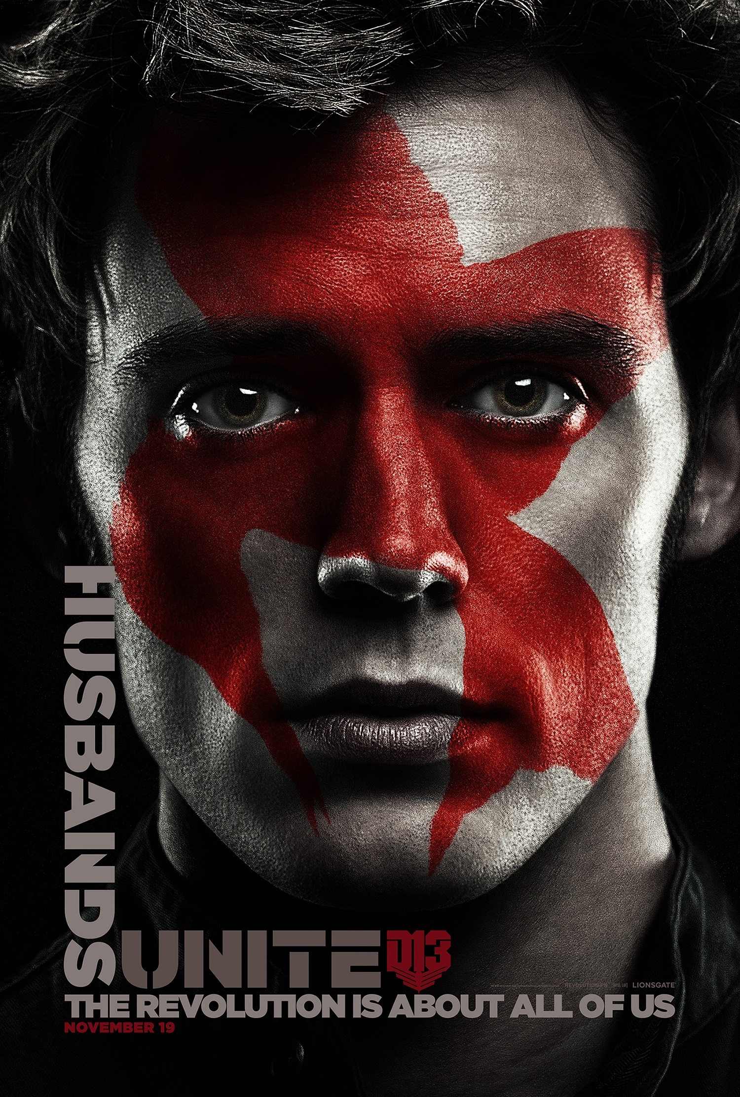 WORLD EXCLUSIVE: Finnick gets ready for the revolution in The Hunger Games: Mockingjay – Part Two poster