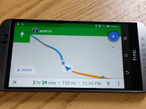 Something odd happens if you ask Google Maps 'Are we there yet?'