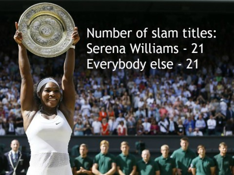 Stats show Serena Williams is as good as every other tennis player combined