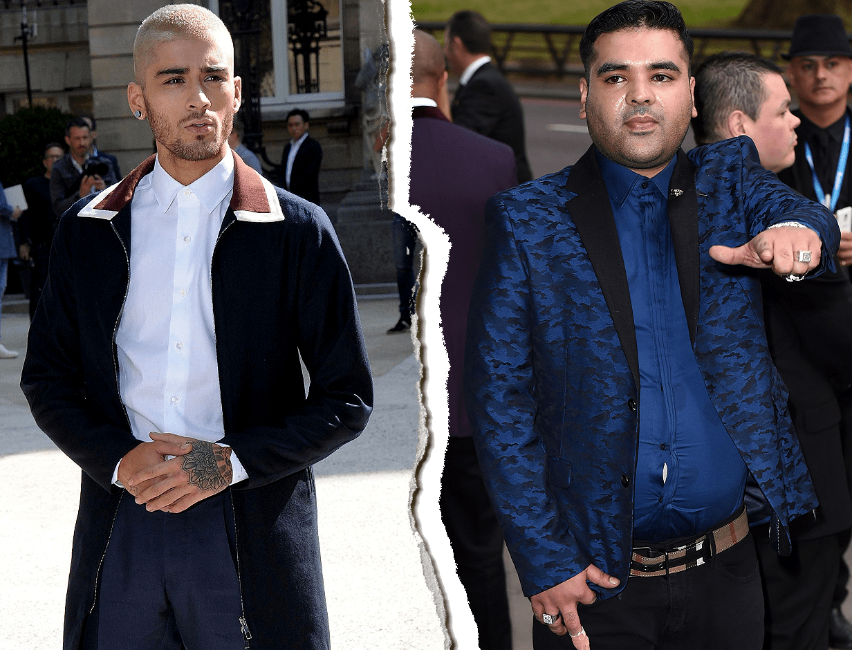 Zayn shades Naughty Boy Source: REX Features
