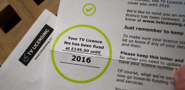 TV License bill Credit: BBC