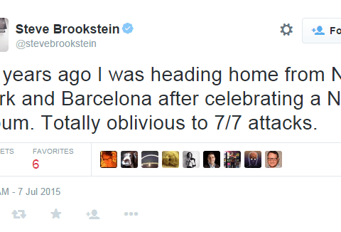 All Steve Brookstein remembers about 7/7 is that his album was No. 1