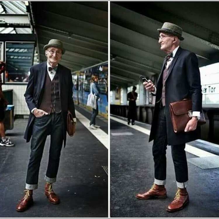 104 year old man serving up serious style inspiration