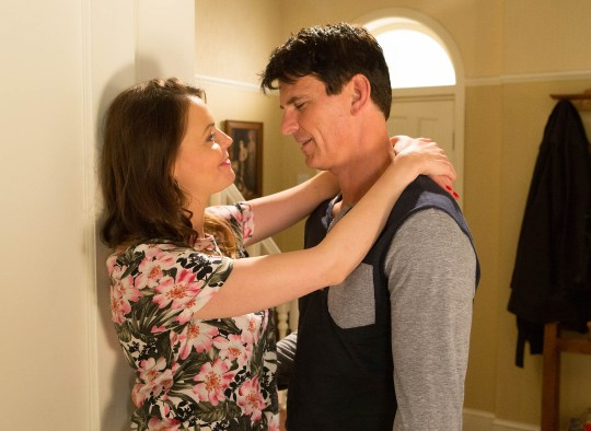 FROM ITV STRICT EMBARGO -TV Listings Magazines & websites Tuesday 4 August 2015, Newspapers Saturday 8 August 2015 Coronation Street - Ep 8706 Wednesday 12 August 2015 Having spent the night with Robert Preston [TRISTAN GEMMILL], a loved up Tracy Barlow [KATE FORD] is elated   Picture contact: david.crook@itv.com on 0161 952 6214 Photographer - Joseph Scanlon This photograph is (C) ITV Plc and can only be reproduced for editorial purposes directly in connection with the programme or event mentioned above, or ITV plc. Once made available by ITV plc Picture Desk, this photograph can be reproduced once only up until the transmission [TX] date and no reproduction fee will be charged. Any subsequent usage may incur a fee. This photograph must not be manipulated [excluding basic cropping] in a manner which alters the visual appearance of the person photographed deemed detrimental or inappropriate by ITV plc Picture Desk. This photograph must not be syndicated to any other company, publication or website, or permanently archived, without the express written permission of ITV Plc Picture Desk. Full Terms and conditions are available on the website www.itvpictures.com