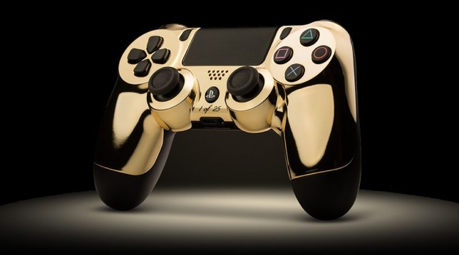 This is a real 24K gold controller, by the way