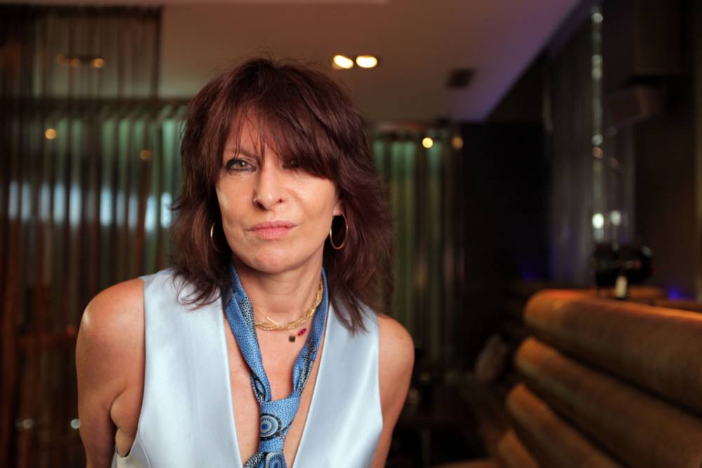 Television Programme: The Culture Show with American musician Chrissie Hynde. Programme Name: The Culture Show - TX: n/a - Episode: n/a (No. n/a) - Picture Shows: Chrissie Hynde - (C) BBC - Photographer: Lorian Reed-Drake