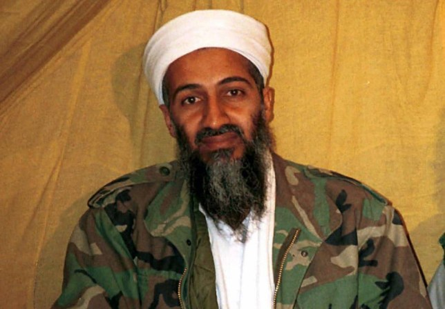 FILE - This undated file photo shows al-Qaida leader Osama bin Laden in Afghanistan. Saudi Arabia's ambassador to the United Kingdom says family members of the late al-Qaida leader were killed in a private jet crash in southern England on Friday, July 31, 2015. (AP Photo/File)