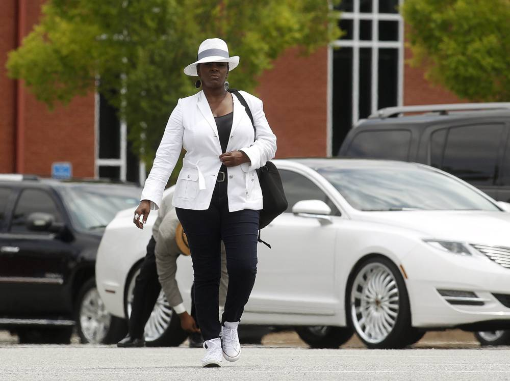 Bobbi Kristina Brown's funeral marred by family tensions as her aunt Leolah 'ejected' from service