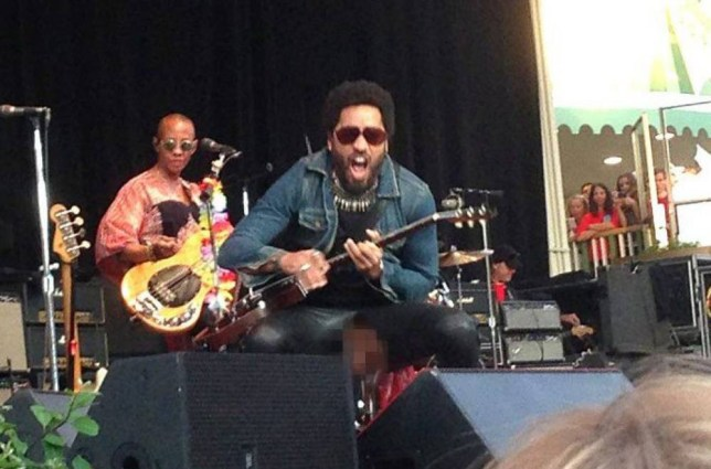 EXCLUSIVE ALL ROUND -  *****EMBARGO*****        NOT FOR PUBLICATION BEFORE 00.01hrs. WEDNESDAY 5th AUG 2015.***** - Outside subscriptions. Reproduction fees Apply.  Mandatory Credit: Photo by Aftonbladet/REX Shutterstock (4926951j)  Lenny Kravitz's trousers split, exposing his penis to the crowd  Lenny Kravitz in Concert at Gr^na Lund, Stockholm, Sweden - 03 Aug 2015  Lenny Kravitz ripped his leather trousers performing a particularly enthusiastic squat during a concert in Stockholm, apparently he wasn't wearing any underwear as he exposed himself to the crowd, fortunately he had another pair backstage and returned on stage wearing even tighter leader trousers, checking that everything was in the right place before continuing with the gig