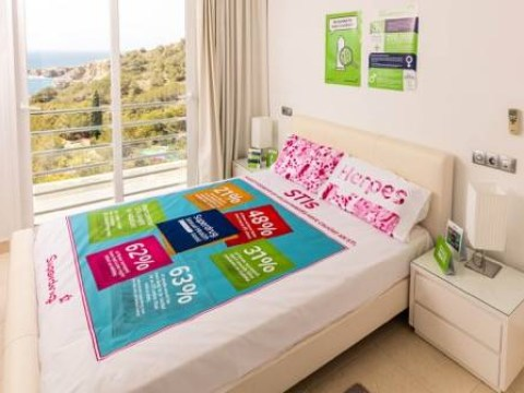 If you don't wear a condom in this bedroom… You have no excuse