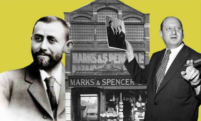 Marks & Spencer Ltd, Stratford, London, 1910. Open-fronted shop in London's East End. In 1894 Thomas Spencer (1851-1905) joined  Russian-born Polish refugee Michael Marks (1859-1907) to form the partnership of Marks & Spencer. The first Marks and Spencer shop opened in Cheetham Hill Road, Manchester in the same year. By the turn of the 20th century there were 12 shops and 24 covered market stalls around the country including Cardiff, Leeds, Bath and branches in London. In 1903 the partnership of Marks and Spencer was made a private company, with Michael Marks and Thomas Spencer as directors. In the same year there were more than 60 branches throughout the country. The penny price disappeared around 1914; 6d (2 1/2 p) and 1/- (5p) became popular prices.  (Photo by Jewish Chronicle/Heritage Images/Getty Images)