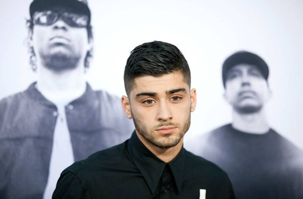 "LOS ANGELES, CA - AUGUST 10: Zayn Malik arrives for Universal Pictures and Legendary Pictures' premiere of ""Straight Outta Compton"" on August 10, 2015 in Los Angeles, California. (Photo by Gabriel Olsen/Getty Images)"