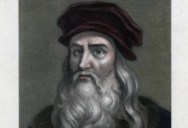 Leonardo da Vinci, (1452-1519). Portrait of Leonardo. Hand-coloured later. (Photo by The Print Collector/Print Collector/Getty Images)