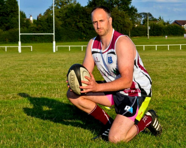 PIC FROM SHROPSHIRE STAR - (Pictured: Jonny Stiles at Newport RFC.) A rugby player almost lost his foot  after a small cut on his foot became infected from DOG POO left on the pitch. Jonny Stiles, who plays for Newport Rugby Club, spent six days in hospital after the incident during a rugby match. Although emergency services were able to save his foot, the 29-year-old has been left with a nasty scar and circulation problems. Jonny is now campaigning for pet owners to take responsibility for their animals and clear up their dog mess. SEE CATERS COPY.