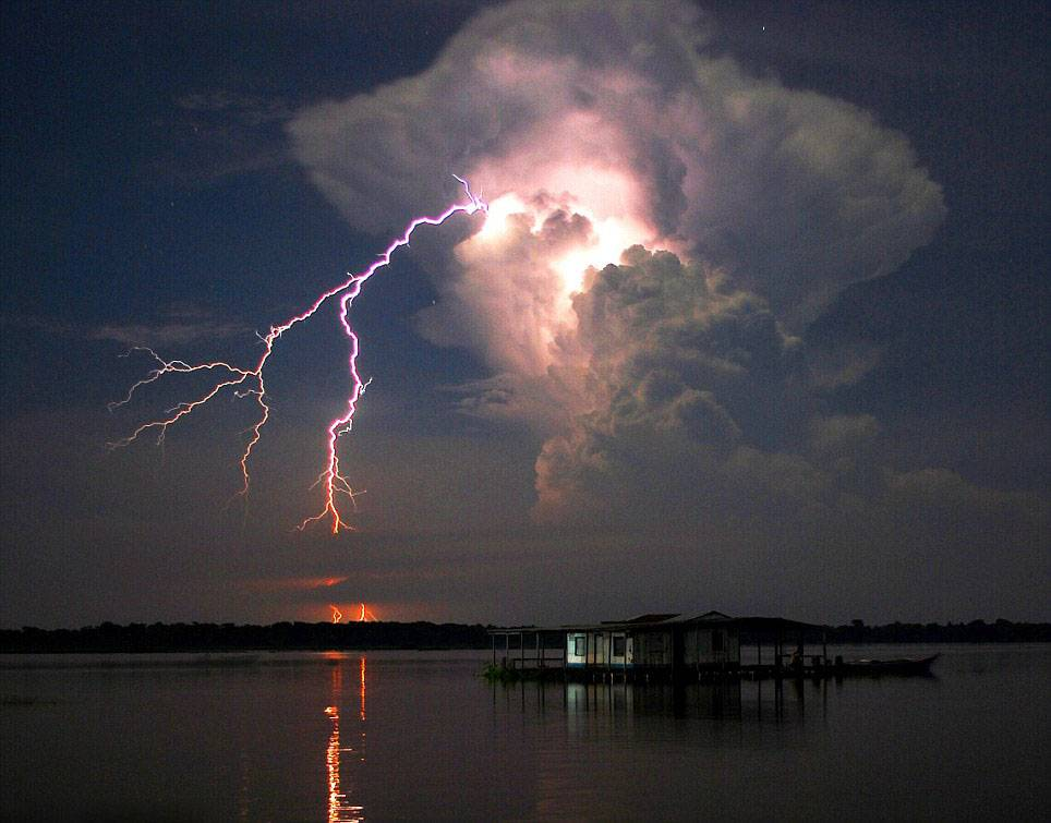 The most electric place on Earth: Venezuelan lake is hit by lightning THOUSANDS of times a day  Catatumbo Lightning