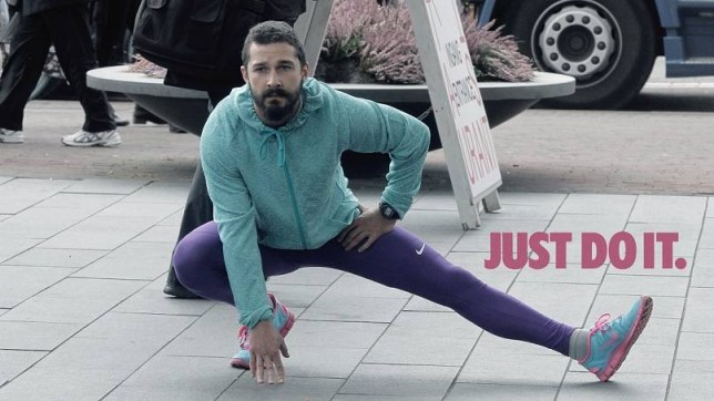 Shia Labeouf Posed Mildly Ridiculously For A Nike Ad The Interweb Has Responded In Kind Metro News