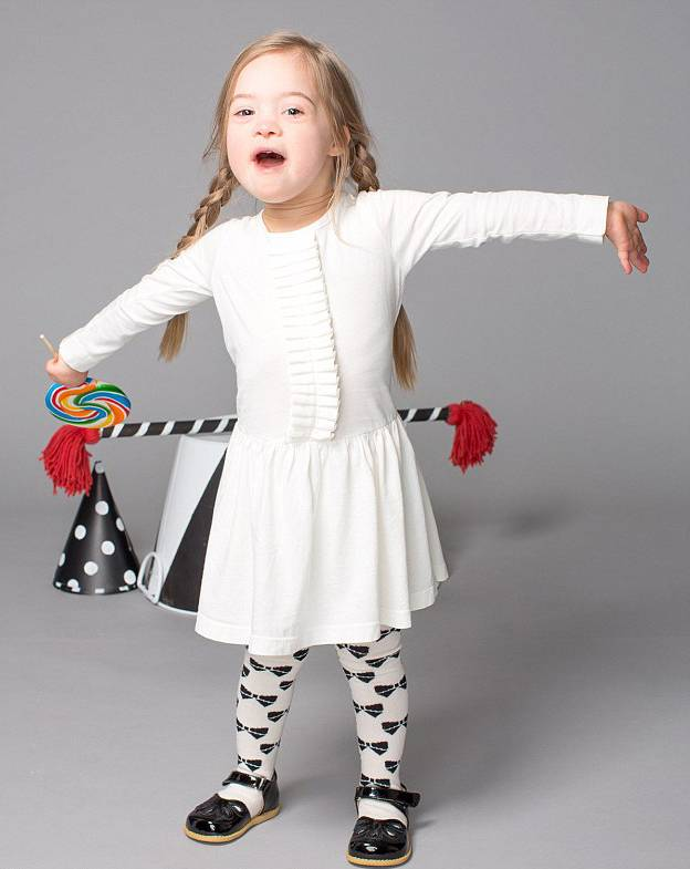 Rising star: Four-year-old Cora Slocum from Martinez, California, stars in a new ad campaign for children's shoe company Livie & Luca