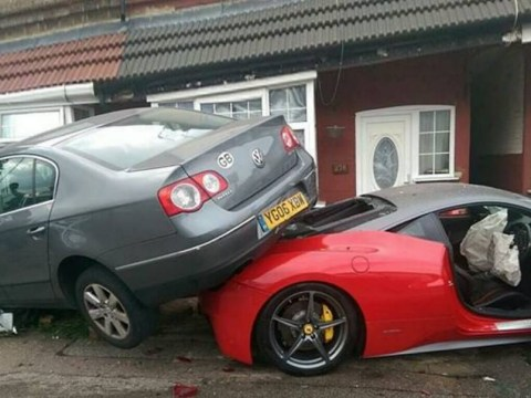 Man hires Ferrari to drive to wedding… then crashes it