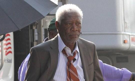 Morgan Freeman returns to work after murder of his