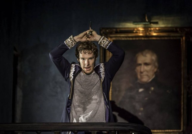 Theatre: Hamlet with Benedict Cumberbatch. Actor Benedict Cumberbatch performs in Director Lyndsey Turner's production of Hamlet at the Barbican, in London, August 4, 2015, in this handout picture and released August 8, 2015. REUTERS/Johan Persson/Handout via Reuters ATTENTION EDITORS - THIS PICTURE WAS PROVIDED BY A THIRD PARTY. REUTERS IS UNABLE TO INDEPENDENTLY VERIFY THE AUTHENTICITY, CONTENT, LOCATION OR DATE OF THIS IMAGE. FOR EDITORIAL USE ONLY. NOT FOR SALE FOR MARKETING OR ADVERTISING CAMPAIGNS. NO SALES. NO ARCHIVES. THIS PICTURE IS DISTRIBUTED EXACTLY AS RECEIVED BY REUTERS, AS A SERVICE TO CLIENTS NO SALES. NO ARCHIVES.