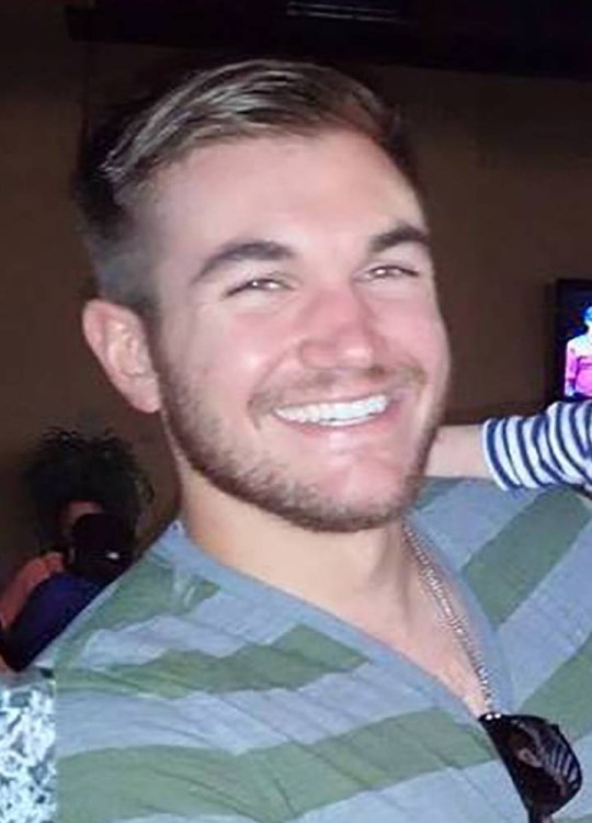 Supplied Nicholas Razzell 22.08.15 M) 07976 449 585ref: nxr Supplied open social media pic pic shows: Alek Skarlatos, who was travelling with US Airforce Airman Spencer Stone, from Sacramento, USA, and Anthony Sadler, on a train in France when they tackled a 26 year-old gunman with an AK47 - see story. Pic by: Nick Razzell