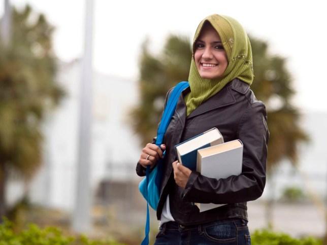 Muslim female college student