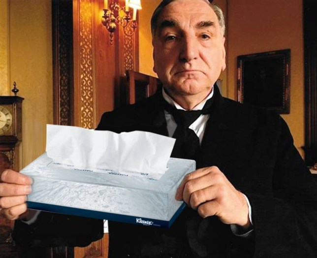 Jim Carter (Mr Carson) From Downton Abbey has said fans will need not one but two hankies when Downton ends at xmas Source: BBC