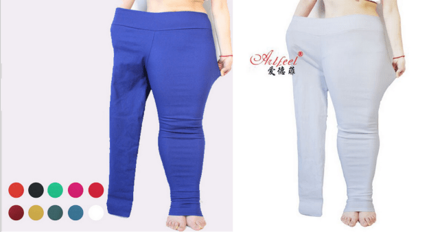 7f3e1ad740daa Clothing brand AliExpress is advertising plus-size leggings in the weirdest  way