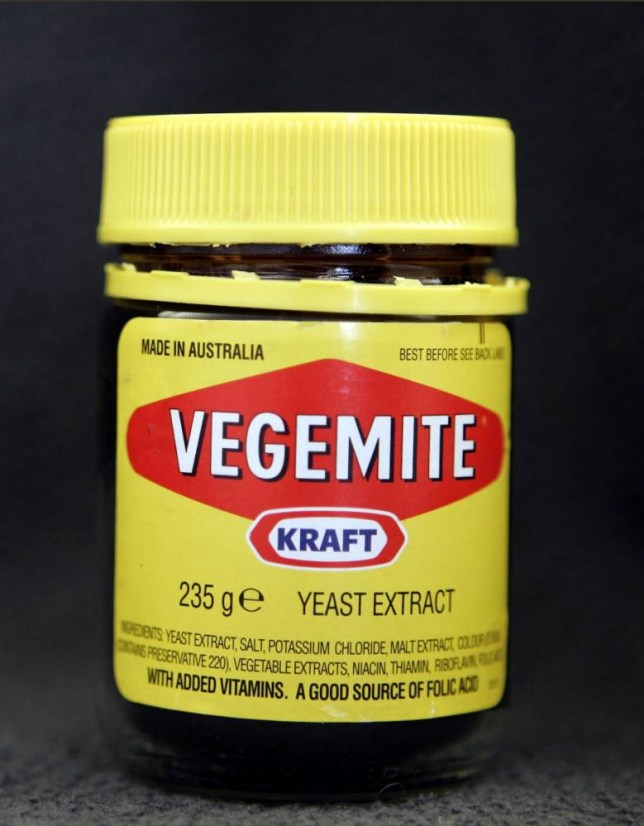 A jar of the Australian spread Vegemite in New York October 24, 2006. Reports that U.S. customs agents are searching people from Australia and New Zealand for Vegemite, a popular yeast extract spread, has created consternation among antipodean expatriates living in America.     REUTERS/Brendan McDermid   (UNITED STATES)