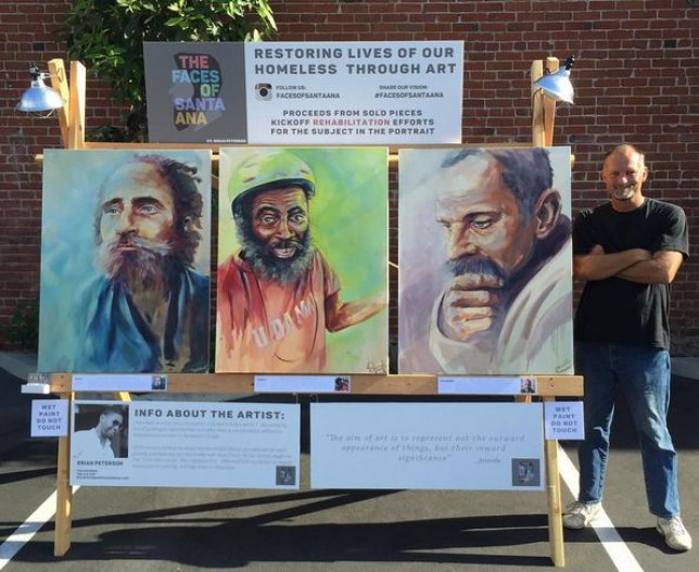 brian peterson faces of santa ana project painting homeless people portraits