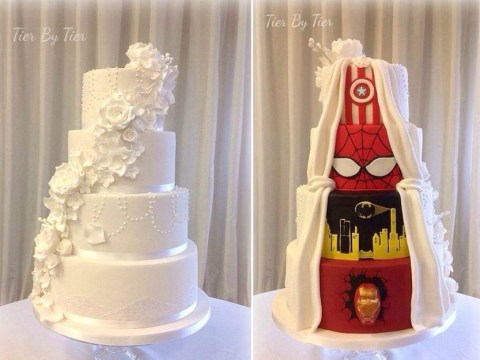 This Marvel-ous wedding cake isn't everything it seems