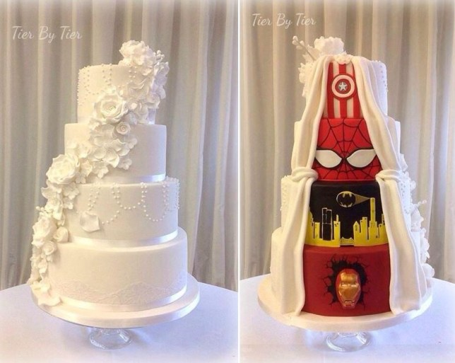 This Marvel Ous Double Take Wedding Cake Isn T Everything It Seems