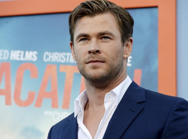 "Cast member Chris Hemsworth poses during the premiere of the film ""Vacation"" at the Regency Village Theatre in the Westwood section of Los Angeles Kevork Djansezian/Reuters"