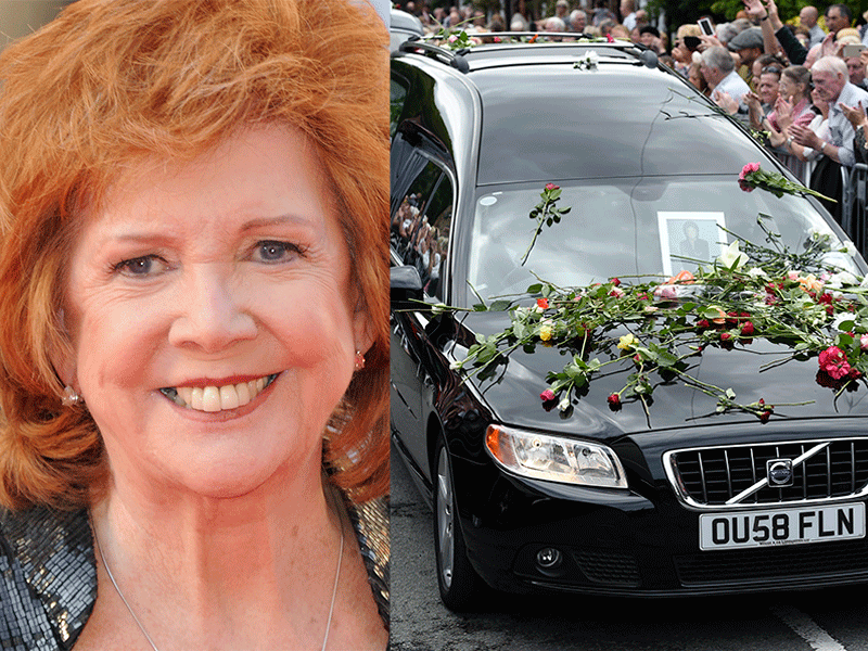 Cilla Black's funeral live: Fans line the streets as Sir Tom Jones and Sir Cliff Richard arrive to pay their respects