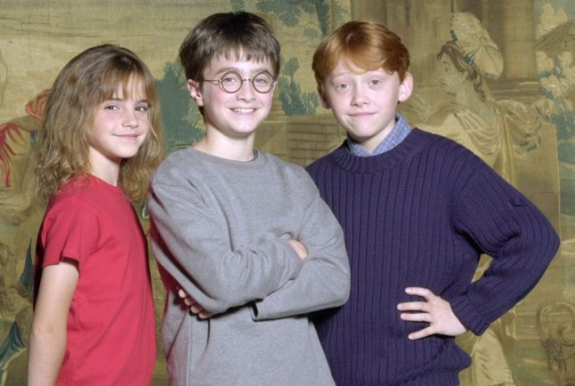 SHOWBIZ Potter/Radcliffe...Handout photo of young actor Daniel Radcliffe. Daniel who starred in the BBC adaptation of David Copperfield, is named as the star of the first Harry Potter film after a worldwide hunt, director Chris Columbus said Monday 21 August 2000. Columbus and producer David Heyman discovered their Harry Potter, Ron Weasley and Hermione Granger from the thousands of children who cast their names into the hat to play the roles. Young actor Daniel Radcliffe will be the film s Harry (centre), with newcomers Rupert Grint (right) and Emma Watson taking on the roles of Ron and Hermione. See PA story SHOWBIZ Potter. PA photo: Handout...A