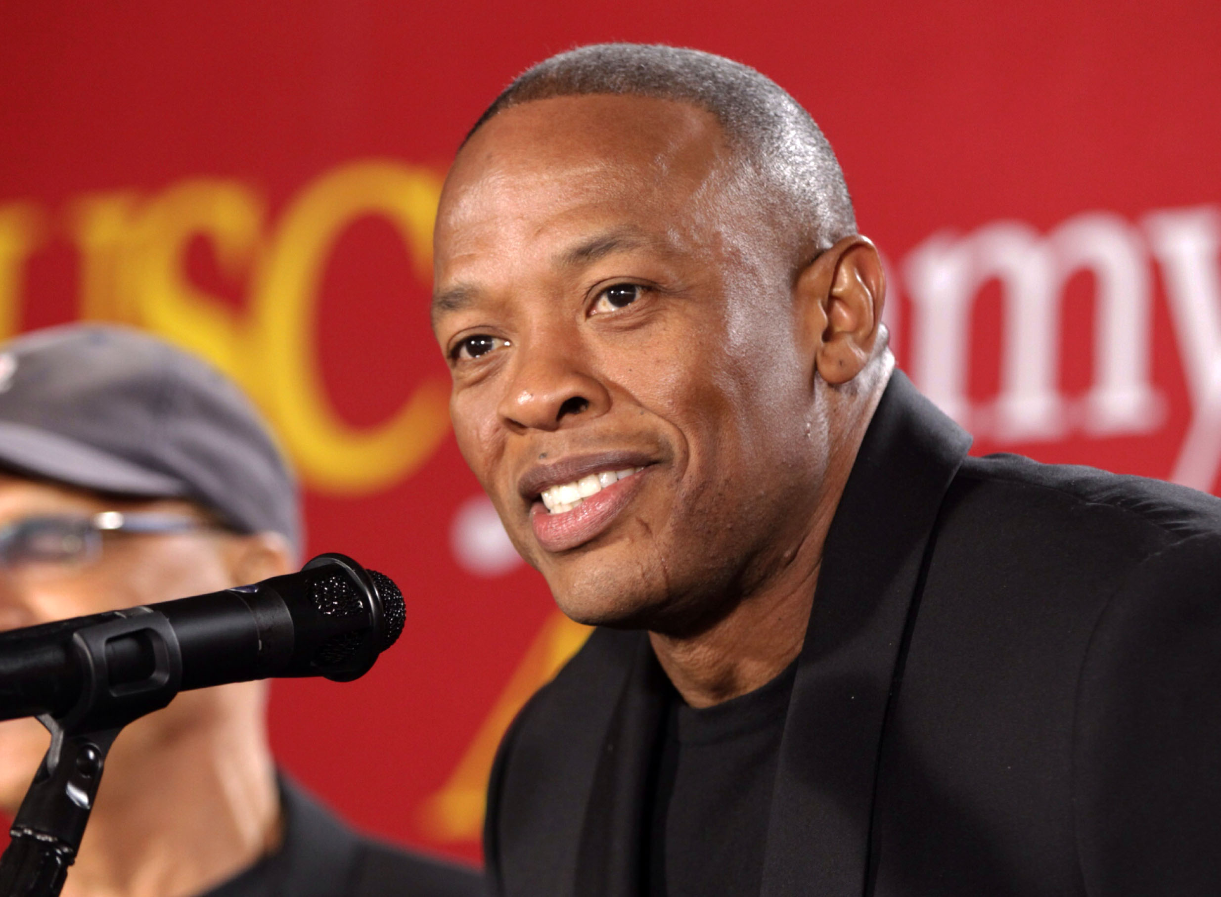 "Rapper Dr. Dre announces a $70 million dollar donation to create the new ""Jimmy Iovine and Andre Young Academy for Arts and Technology and Business Innovation,"" at the University of Southern California, in Santa Monica, America. Dr. Dre says he will donate his royalties from his new album to the city of Compton for a new performing arts facility. ""Compton: A Soundtrack by Dr. Dre"" will be released Friday, Aug. 7. The album was inspired by the N.W.A. biopic ""Straight Outta Compton,"" in theaters Aug. 14. (AP Photo/Damian Dovarganes, File)"
