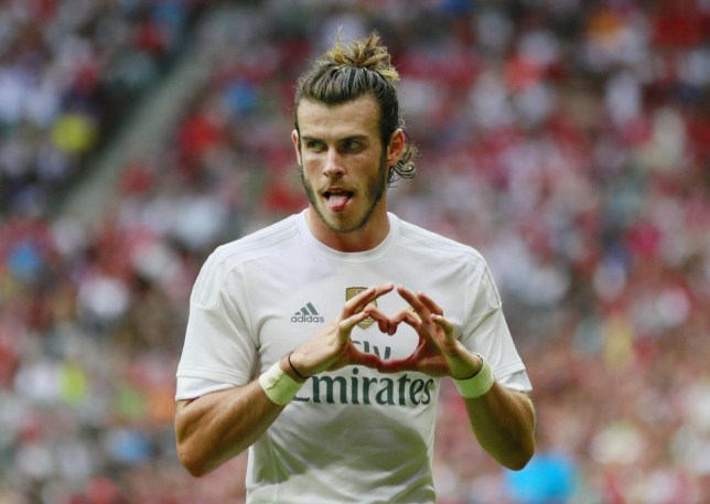 Gareth Bale celebrates after scoring the second goal for Real Madrid Jason Cairnduff/Reuters