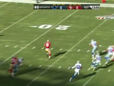 Ex-rugby league player Jarryd Hayne stars in his second ever American football game for San Francisco 49ers