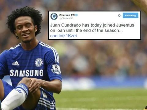 Chelsea confirm Juan Cuadrado 'joins Juventus on season-long loan'