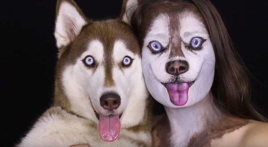 makeup tutorial shows you how to become one with your dog