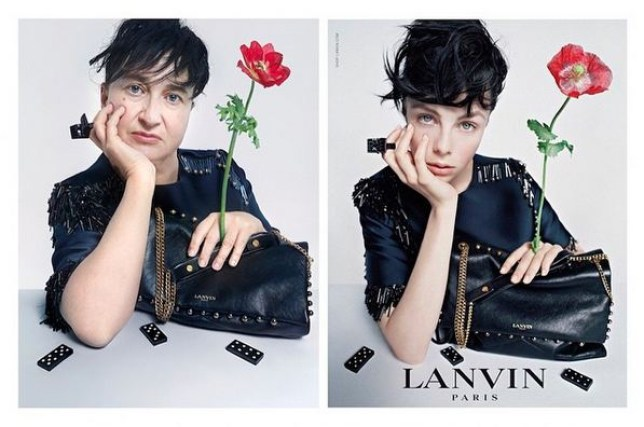 nathalie croquet recreates famous beauty campaigns as a non model lanvin