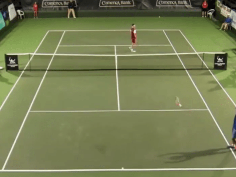 Japanese tennis star Yoshihito Nishioka hits contender for shot of the year
