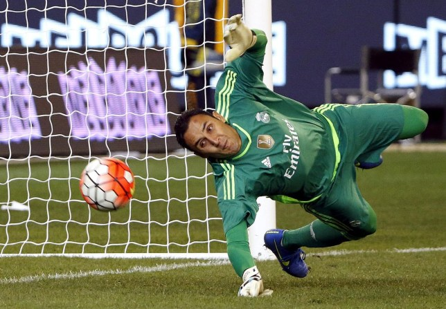Real Madrid's goalkeeper Keylor Navas fails to stop a penalty goal during the International Champions Cup match against AS Roma at the Melbourne Cricket Ground, Australia David Gray/Reuters