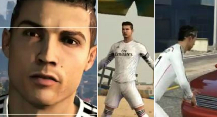Cristiano Ronaldo steals cars and visits strip clubs in epic GTA V edit
