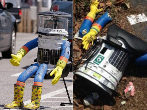 Hitchhiking robot decapitated while travelling around the US