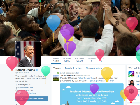 Tell Twitter your date of birth and it will shower you with digital balloons
