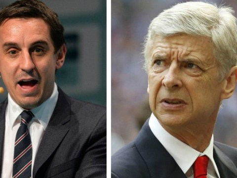 Arsene Wenger's Arsenal are a soft touch and would have to defy history to win the league, says Gary Neville
