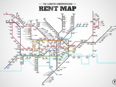 This rent map of London has made us realise we should probably pack our bags and leave
