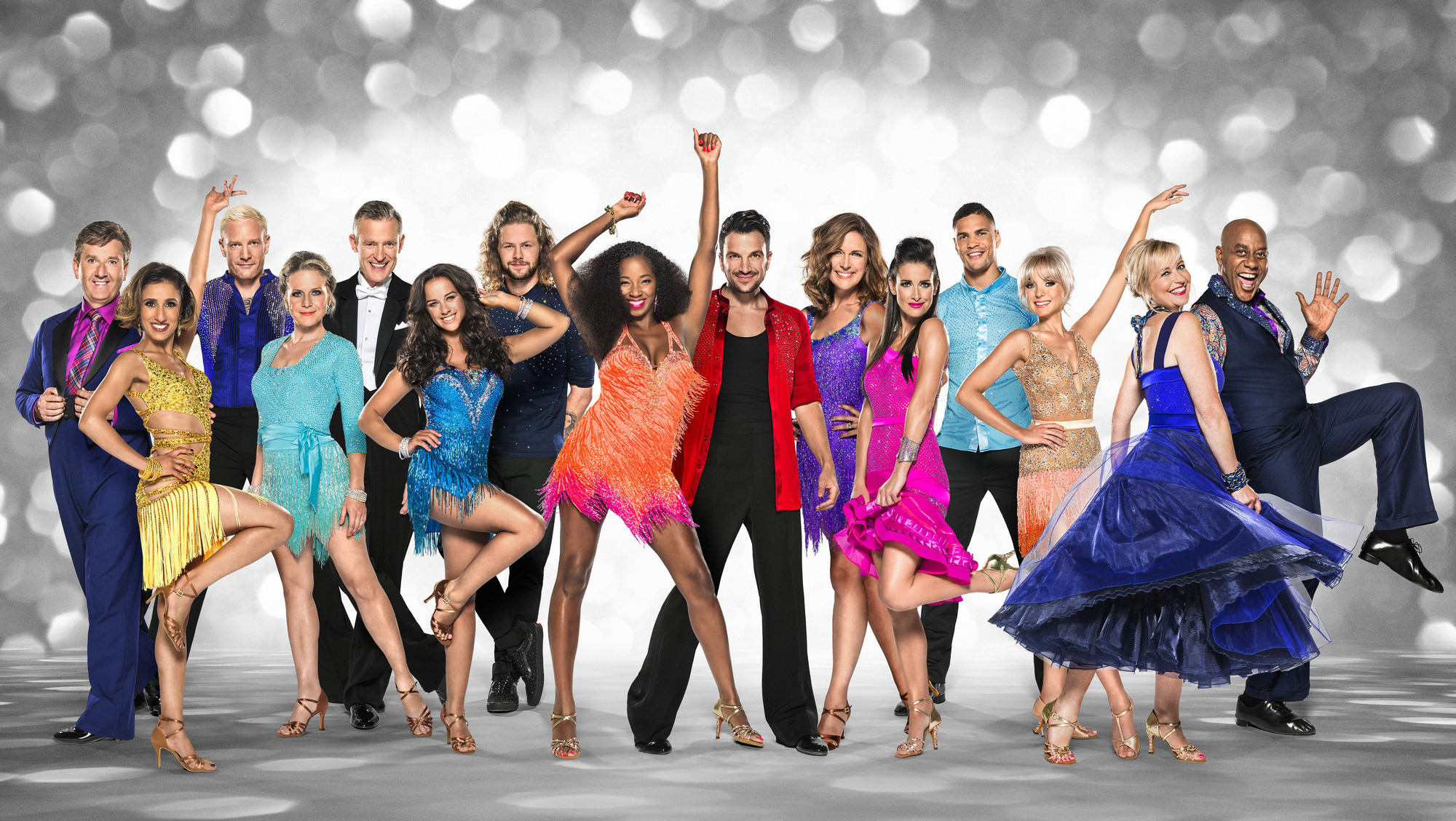 WARNING: Embargoed for publication until 00:00:01 on 15/09/2015 - Programme Name: Strictly Come Dancing 2015 - TX: 05/09/2015 - Episode: n/a (No. n/a) - Picture Shows: **EMBARGOED FOR PUBLICATION UNTIL 00:01 HRS ON TUESDAY 15TH SEPTEMBER** Daniel O'Donnell, Anita Rani, Iwan Thomas, Kellie Bright, Jeremy Vine, Georgia May Foote, Jay McGuiness, Jamelia, Peter Andre, Katie Derham, Kirsty Gallacher, Anthony Agogo, Helen George, Carol Kirkwood, Ainsley Harriott - (C) BBC - Photographer: Ray Burmiston